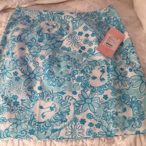 FINAL PRICE NWT Lilly Pulitzer Simple Skirt lion 4